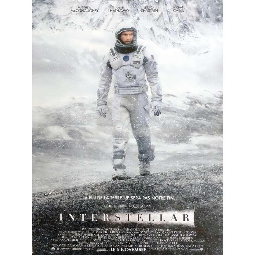 INTERSTELLAR Affiche de film 40X60 - 2014 - Matthew McConaughey, Christopher Nolan