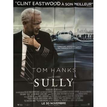 SULLY Movie Poster 47x63 in. - 2016 - Clint Eastwood, Tom Hanks
