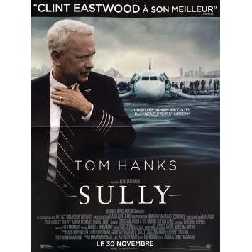 SULLY Affiche de film 40x60 cm - 2016 - Tom Hanks, Clint Eastwood