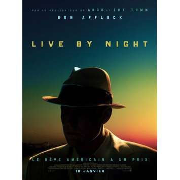 LIVE BY NIGHT Movie Poster 15x21 in. - 2017 - Ben Affleck, Zoe Zaldana