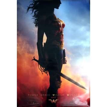 WONDER WOMAN Affiche de film Adv. 69x101 cm - 2017 - Gal Gadot, Patty Jenkins