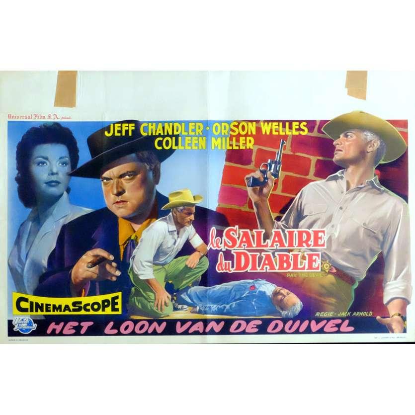 LE SALAIRE DU DIABLE Affiche de film 35x55 - 1957 - Orson Welles, Jack Arnold