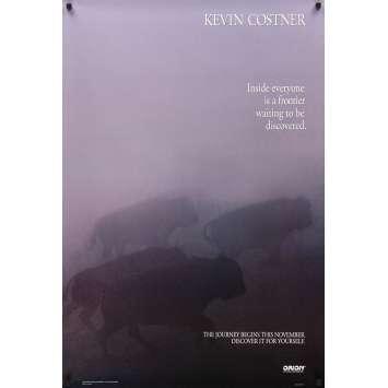 DANSE AVEC LES LOUPS Affiche de film - 1990 - Kevin Costner, Kevin Costner