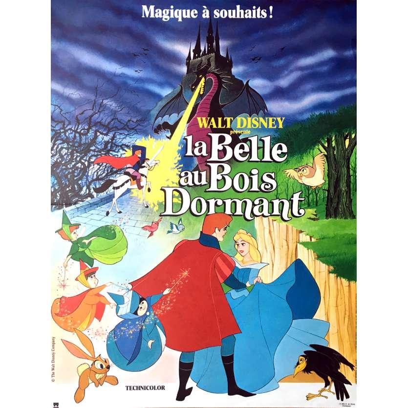 LA BELLE AU BOIS DORMANT Affiche de film 40x60 - R-1980 - Mary Costa, Disney C8