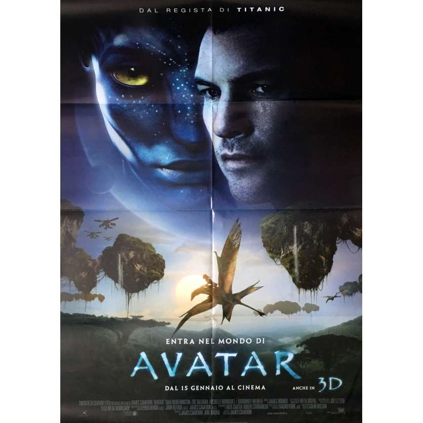 AVATAR Affiche de film 100x140 - 2009 - Sam Worthington, James Cameron