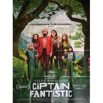 CAPTAIN FANTASTIC Affiche de film 120x160 cm - 2016 - Viggo Mortensen, Matt Ross