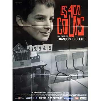 LES 400 COUPS Affiche de film 120x160 cm - 1959 - Jean-Pierre Léaud, François Truffaut