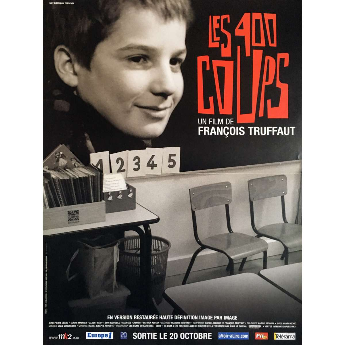 400 BLOWS Movie Poster 15x21 In