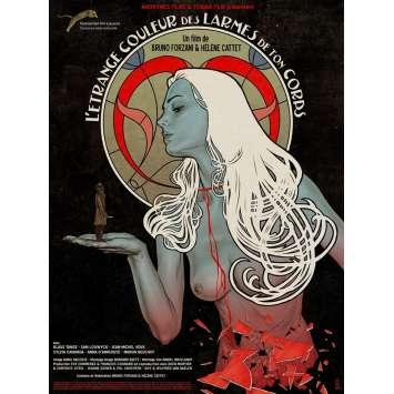 THE STRANGE COLOR OF YOUR BODY'S TEARS Movie Poster 15x21 in. - 2013 - Hélène Cattet, Bruno Forzani , Klaus Tange