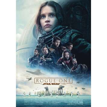 STAR WARS ROGUE ONE Movie Poster 15x21 in. - 2016 - Gareth Edwards, Felicity Jones