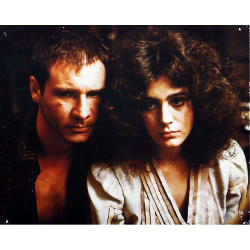 BLADE RUNNER color 8x10 still N6 '82 Sean Young + Harrison Ford with Daryl Hannah!