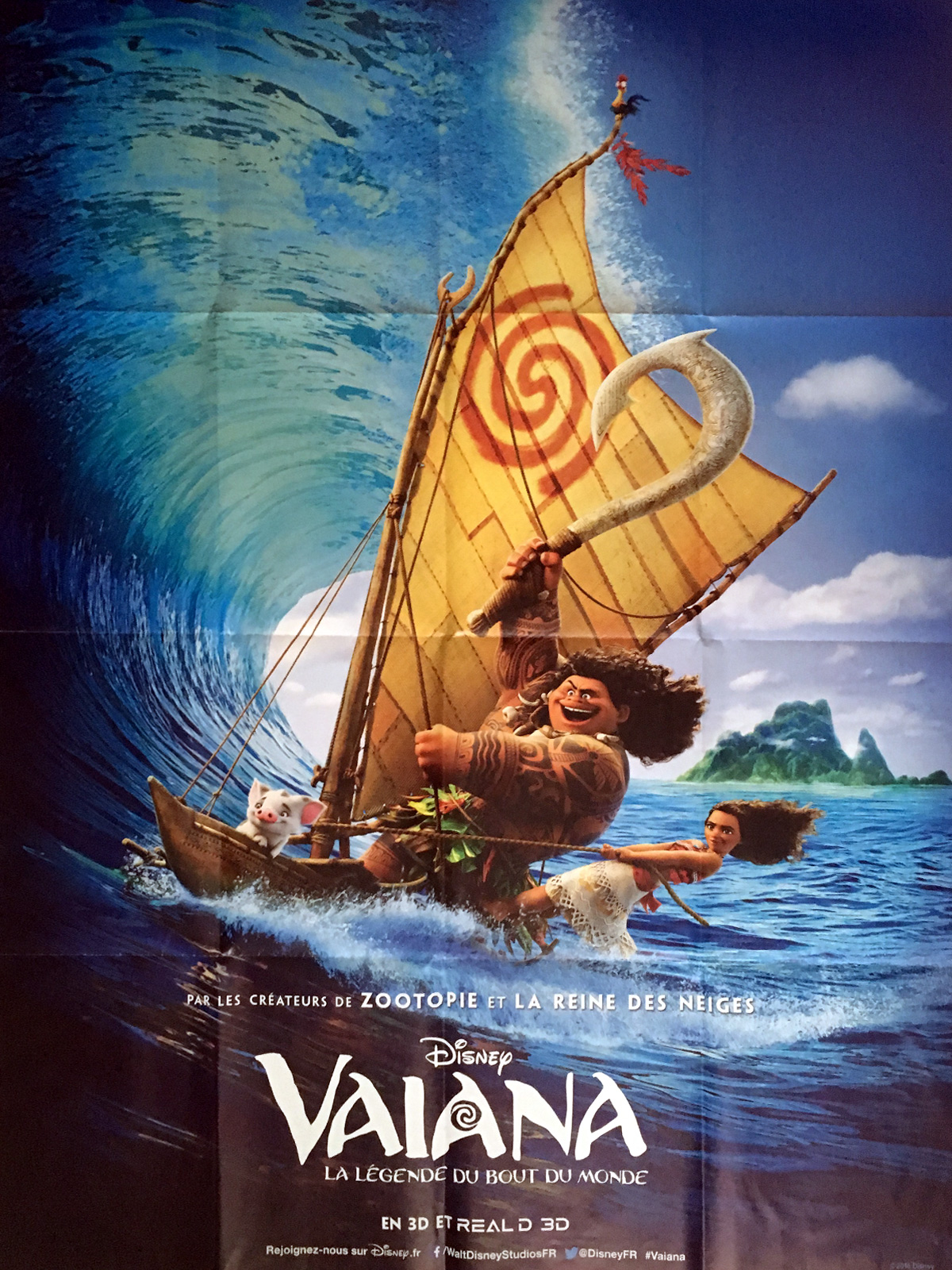 VAIANA Movie Poster 47x63 In