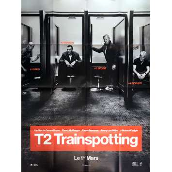 T2 TRAINSPOTTING Affiche de film Prev. 120x160 cm - 2017 - Ewan McGregor, Danny Boyle