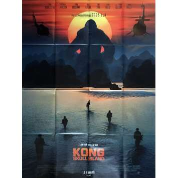 KONG SKULL ISLAND Affiche de film 120x160 cm - 2017 - Samuel L. Jackson, Jordan Vogt-Roberts