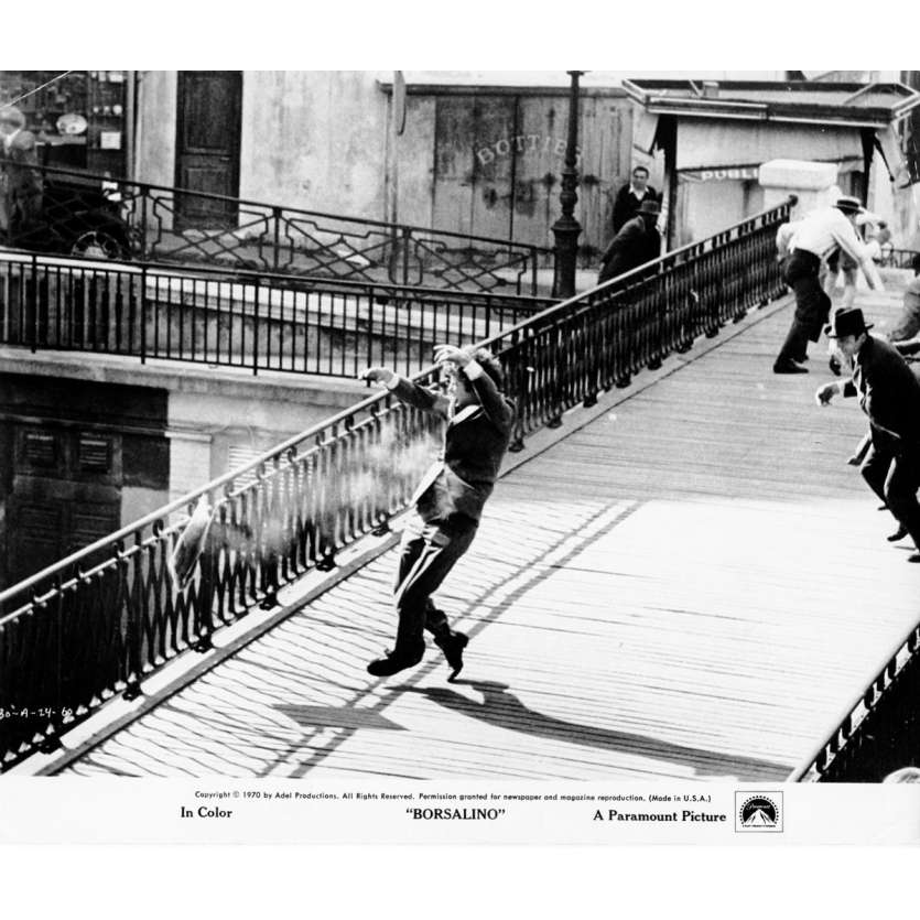 BORSALINO Photo de presse N01 20x25 cm - 1970 - Jean-Paul Belmondo, Alain Delon