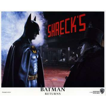 BATMAN RETURNS Lobby Card N07 8x10 in. - 1992 - Tim Burton, Michael Keaton