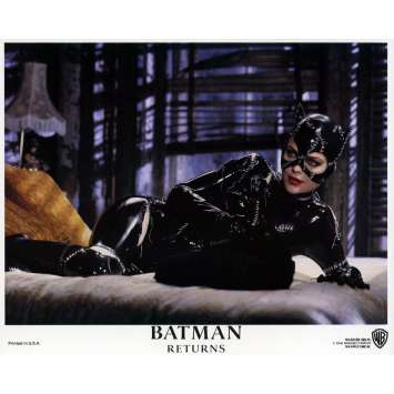 BATMAN RETURNS Lobby Card N06 8x10 in. - 1992 - Tim Burton, Michael Keaton