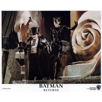 BATMAN RETURNS Lobby Card N05 8x10 in. - 1992 - Tim Burton, Michael Keaton