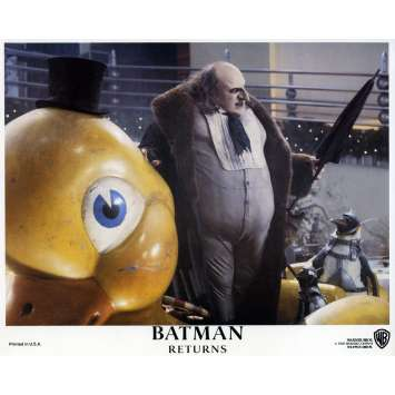 BATMAN RETURNS Lobby Card N04 8x10 in. - 1992 - Tim Burton, Michael Keaton