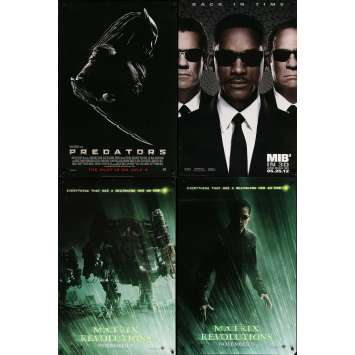 SCIENCE-FICTION - Lot de 4 affiches Cinéma Américaines Originales - Matrix, MIB III
