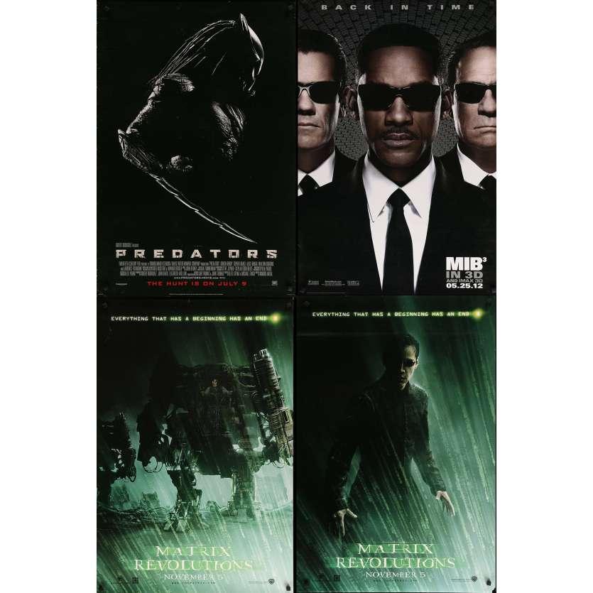 SCIENCE-FICTION - Lot de 4 affiches Cinéma Américaines Originales - Matrix, MIB III