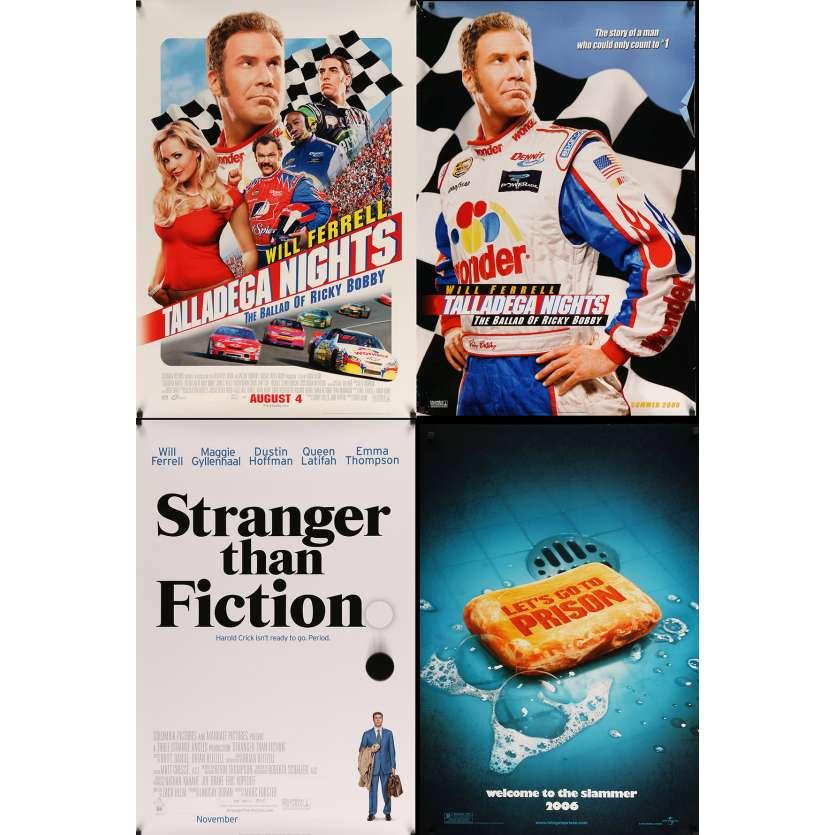 COMEDIES - Lot de 4 affiches Cinéma Américaines Originales - Will ferell
