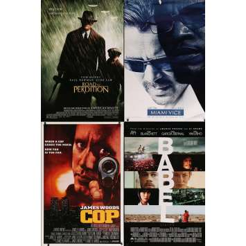 CRIME - Original 1sh Movie Poster Lot of 4 - 27x40 in. - 90s-00s