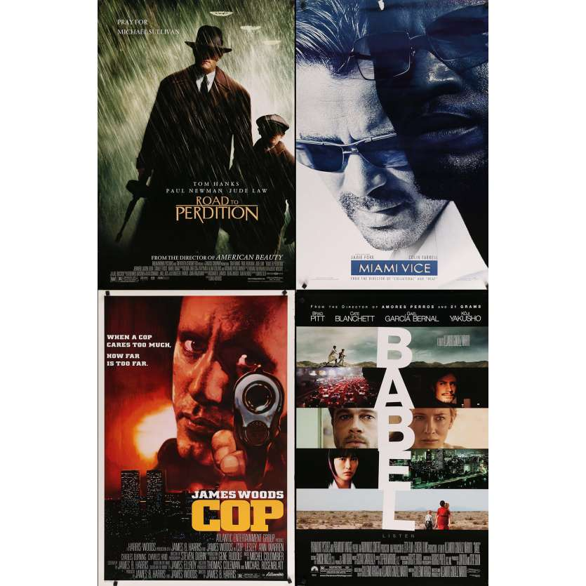 CRIME - Original 1sh Movie Poster Lot of 4 - 27x40 in. - 90s-00s