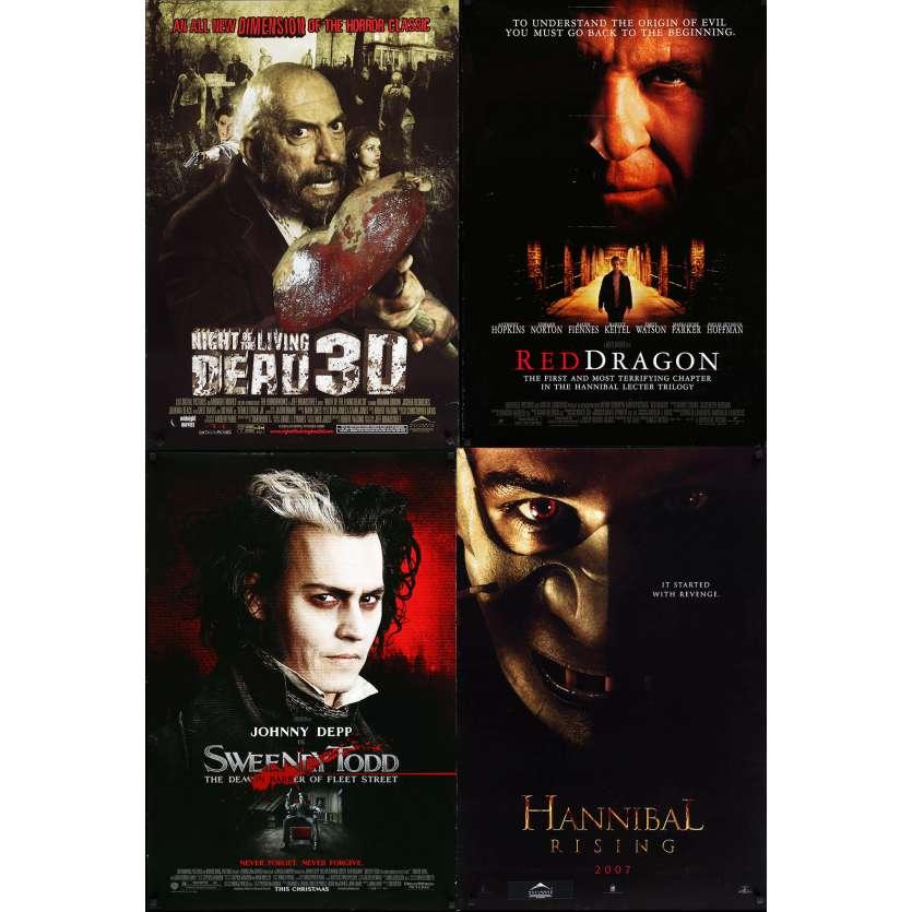 HORREUR 3 - Lot de 4 affiches Cinéma Américaines Originales - Sweeney todd, dragon rouge