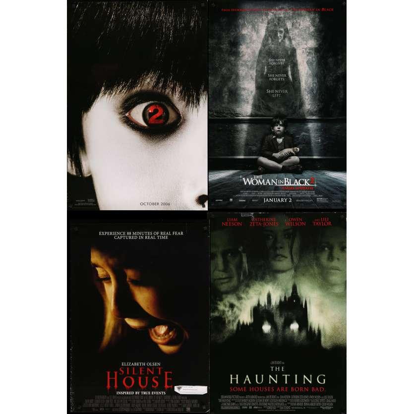 HORREUR 4 - Lot de 4 affiches Cinéma Américaines Originales - Grudge, dame en noir