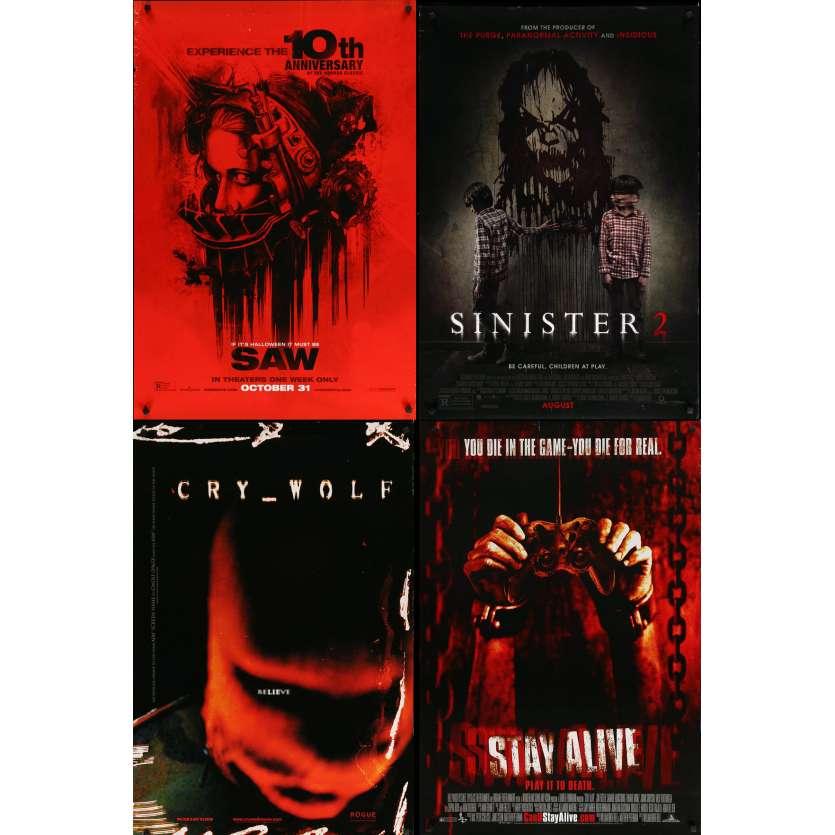 HORREUR 2 - Lot de 4 affiches Cinéma Américaines Originales - Saw, Sinister