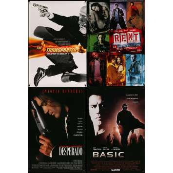 ACTION 3 - Original 1sh Movie Poster Lot of 4 - 27x40 in. - 90s-00s