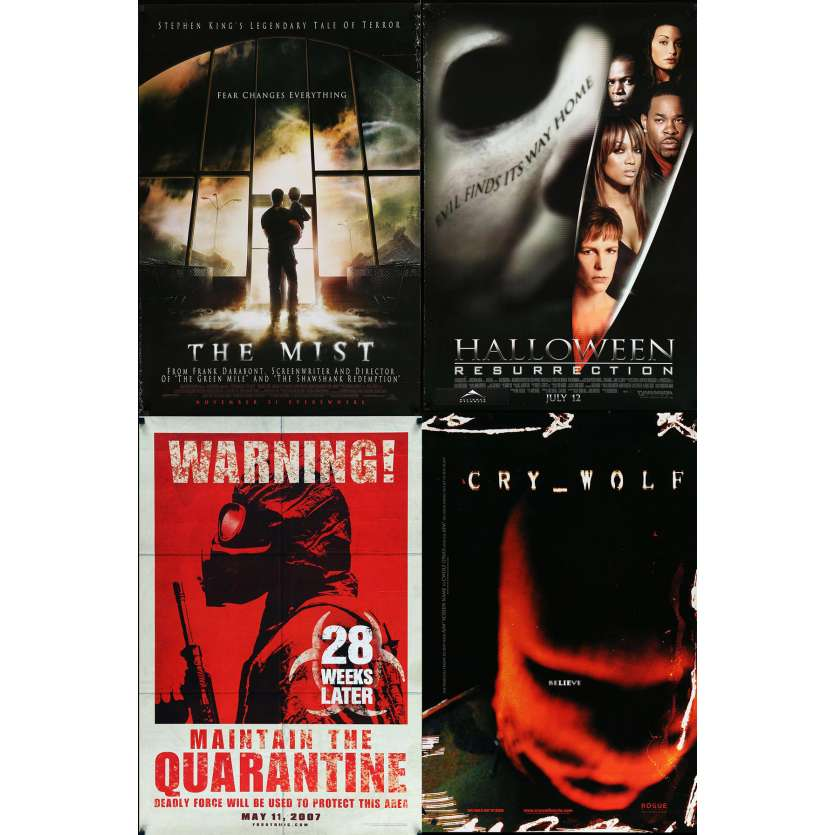 HORROR 1 - Original 1sh Movie Poster Lot of 4 - 27x40 in. - 90s-00s