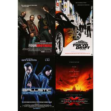 ACTION 2 - Original 1sh Movie Poster Lot of 4 - 27x40 in. - 90s-00s
