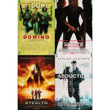 ACTION 1 - Lot de 4 affiches Cinéma Américaines Originales - Domino, Furtif…