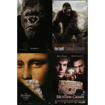 FANTASTIQUE - Lot de 4 affiches Cinéma Américaines Originales - King Kong, Grimm