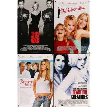 COMEDIES ROMANTIQUES - Lot de 5 affiches Cinéma Américaines Originales