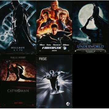 SUPER HEROES - Original 1sh Movie Poster Lot of 5 - 27x40 in. - 90s-00s