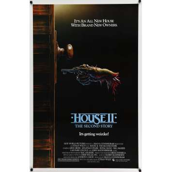 HOUSE II Movie Poster 27x40 in. - 1987 - Ethan Wiley, Arye Gross