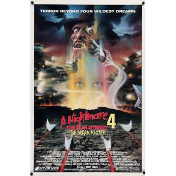 A NIGHMARE ON ELM STREET 4 Movie Poster 27x40 in. - 1988 - Renny Harlin, Robert Englund