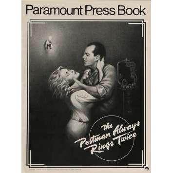 POSTMAN ALWAYS RINGS TWICE Pressbook 9x12 in. - 1981 - Bob Rafelson, Jack Nicholson