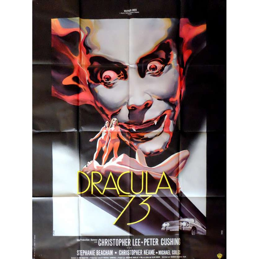 DRACULA A.D. 1972 French Movie Poster 47x63 - 1972 - Alan Gibson, Christopher Lee