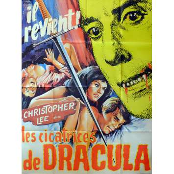 LES CICATRICES DE DRACULA Affiche de film 120x160 - 1970 - Christopher Lee, Roy Ward Baker