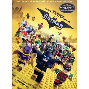 THE LEGO BATMAN MOVIE Movie Poster 15x21 in. - Def. 2017 - Chris McKay, Jenny Slate