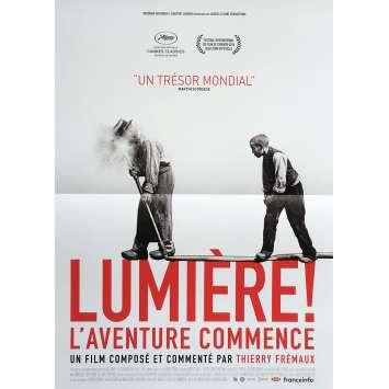LUMIERE ! L'AVENTURE COMMENCE Affiche de film 40x60 cm - Def. 2017 - Lumiere Brothers, Thierry Fremaux