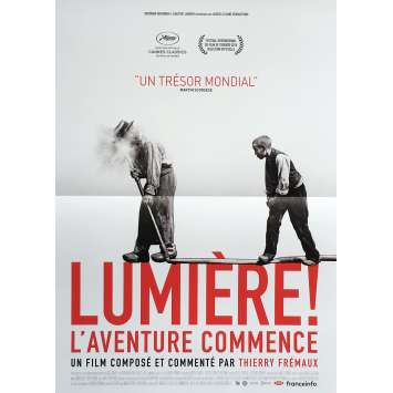LUMIERE ! L'AVENTURE COMMENCE Movie Poster 15x21 in. - Def. 2017 - Thierry Fremaux, Lumiere Brothers