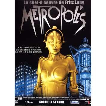 METROPOLIS Movie Poster 15x21 in. - 1990 - Fritz Lang, Brigitte Helm