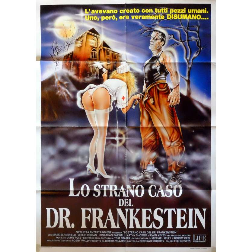 FRANKENSTEIN GENERAL HOSPITAL Italian Movie Poster 35x55 - 1988 - Deborah Romare, Mark Blankfield