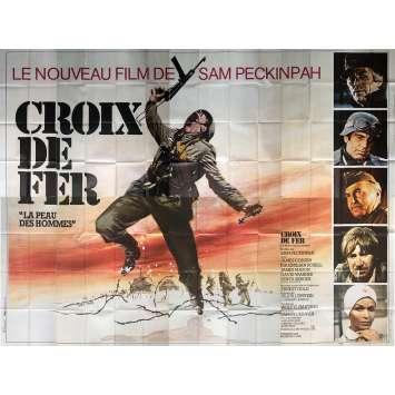 CROIX DE FER Très Rare Affiche géante 4x3m -1977 - Sam Peckinpah