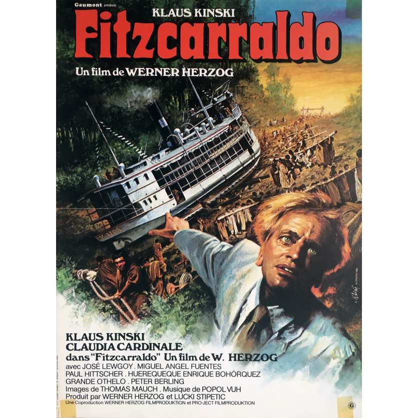 FITZCARRALDO Movie Poster 15x21 in. French - 1982 - Werner Herzog, Klaus Kinski